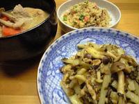 長いもと高菜の炒め物